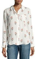 A.L.C. Scott Long-Sleeve Printed Silk Georgette Blouse