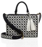 Tory Burch Robinson Woven Leather Tote