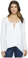 Heather Long Sleeve Crisscross Top Women's Clothing
