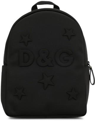 Dolce & Gabbana Kids Embossed Logo And Stars Backpack