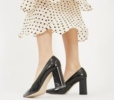 Office Monaco Block Pointed Court Shoes Black Groucho Leather