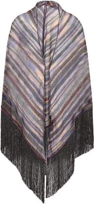 Missoni Fringed Metallic Crochet-knit Wrap