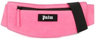 Palm Angels logo patch bum bag