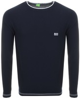 BOSS GREEN Rome Waffle Knitted Jumper Navy