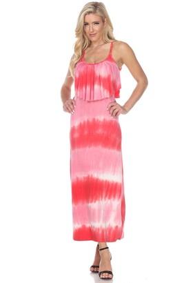 White Mark Women's Kalea Tie Dye Maxi Dress