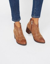 Park Lane Western Heeled Ankle Boots