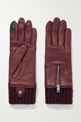 Rag & Bone Alpaca-lined Leather Gloves - Burgundy