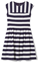 Vince Camuto Striped Fit & Flare Dress