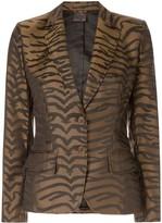 Fendi Pre Owned leopard pattern blazer