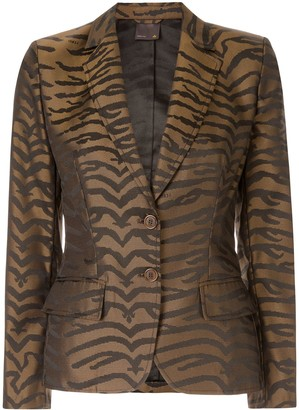 Fendi Pre-Owned Leopard Pattern Blazer
