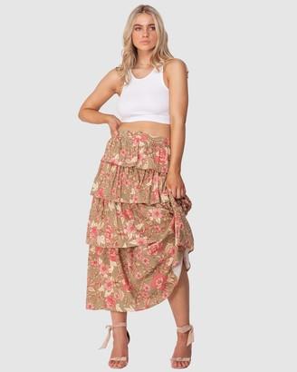 Three of Something Sorcery Print Lucky Skirt