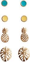 H&M 4 Pairs Stud Earrings - Gold-colored - Ladies