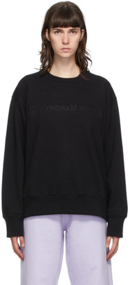 MM6 MAISON MARGIELA Black Embroidered Logo Sweatshirt
