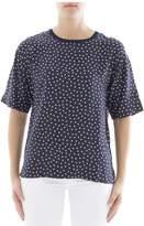 P.A.R.O.S.H. Blue Silk T-shirt