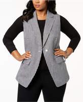 MICHAEL Michael Kors Size Gingham-Print Vest