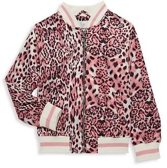 Urban Republic Little Girl's Leopard-Print Bomber Jacket