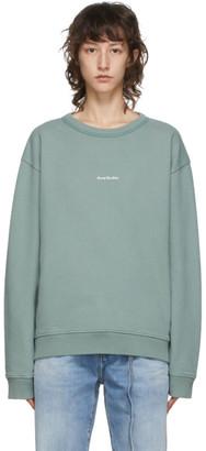 Acne Studios Green Logo Print Sweatshirt
