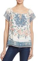 Joie Taj Printed Silk Top