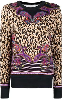 Versace Jeans Couture Multi-Print Cotton Sweatshirt