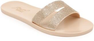 Badgley Mischka Butterfly Slide Sandal