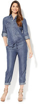 New York & Co. Utility Jumpsuit - Ultra-Soft Chambray