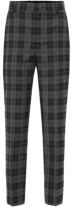 Balenciaga High-rise checked stretch-wool pants