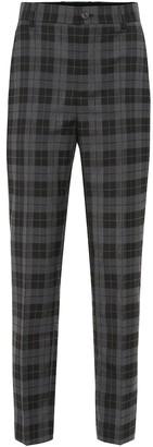 Balenciaga High-rise checked stretch-wool pants