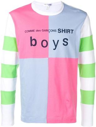 Comme des Garcons Boys patchwork logo sweatshirt