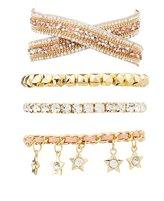 Charlotte Russe Embellished Star Layering Bracelets - 4 Pack
