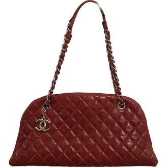 Chanel Mademoiselle Red Leather Handbags