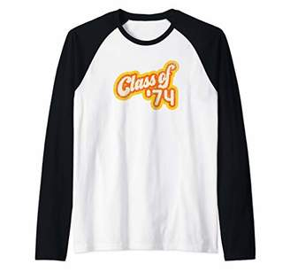Vintage Class of 1974 - Graduation Year Raglan Baseball Tee