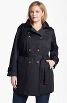 London Fog Plus Size Women's Heritage Trench With Detachable Liner