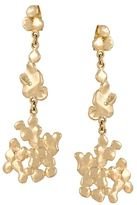 Natasha Collis 18kt yellow gold cobbled earrings