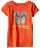 Life is Good Flip Flops Sun CrusherTM Tee (Little Kids/Big Kids)