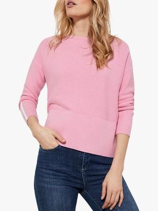 Mint Velvet Cotton Jumper, Pink/Multi