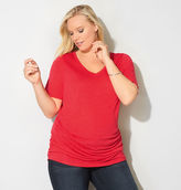 Avenue Ruched V-Neck Tee