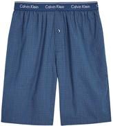 Calvin Klein Blue Checked Cotton Lounge Shorts
