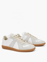 Maison Margiela White Leather and Suede Replica Sneakers