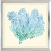 The Well Appointed House Teal & Blue Gradient Sea Fan IV Framed Wall Art-Available in a Variety of Sizes