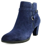 Anne Klein Chelsey Women Pointed Toe Suede Blue Ankle Boot.