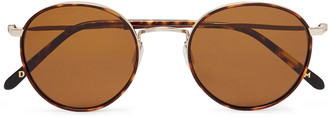 Dick Moby Brussels Round-Frame Tortoiseshell Acetate And Gold-Tone Sunglasses