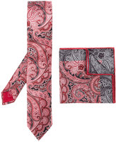 Brioni printed tie and pocket square - men - Silk - One Size