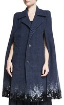 Marc Jacobs Degrade Sequined Houndstooth Long Cape