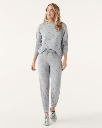 Splendid Embroidered Heart Sweatpant