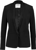 L'Agence Alexa crepe and satin-crepe blazer