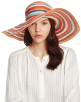 Aqua Striped Floppy Sun Hat - 100% Exclusive