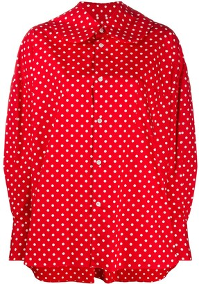 COMME DES GARÇONS GIRL Polka Dot Print Shirt