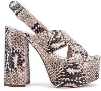 Miu Miu Slingback Platform Sandals in Roccia | FWRD