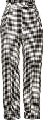 Miu Miu High-Waisted Gingham Trousers