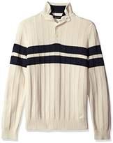 Nautica Men's Buttoned Mock-Neck Pullover